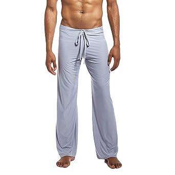 ODRD Männer Yoga Hosen Herren Pants Mode Einfarbig Hause Hosen Yoga Kleidung Hosen Laufhose Sweathose Strumpfhosen Jogging Tr