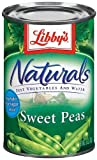 Libby's Naturals Sweet Peas, 15oz Can (Pack of 6)