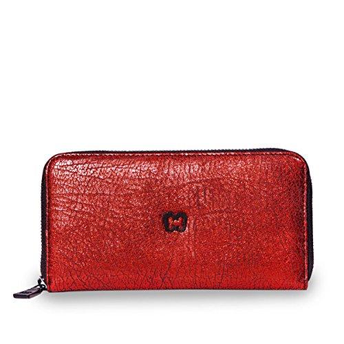 - Eric Javits Luxury Fashion Designer Women's Handbag - Zip Wallet - Siam