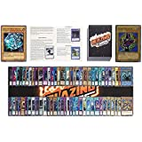 Yugioh Card Lot Includes 100 Holo Cards - Yugioh Deck Box - Yugioh Playmat - Beginner's Rulebook - Enough Cards for Two Yugio