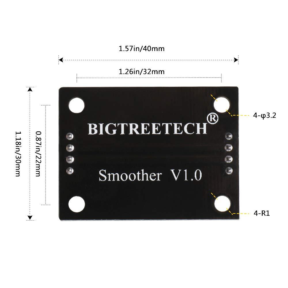 Innovateking-EU 4pcs TL-Smoother V1.0 Plus Addon Module 3D Printer Accessories Filter for Pattern Elimination Motor Clipping Filter 3D Pinter Motor Drivers Terminator Reprap MK8 I3