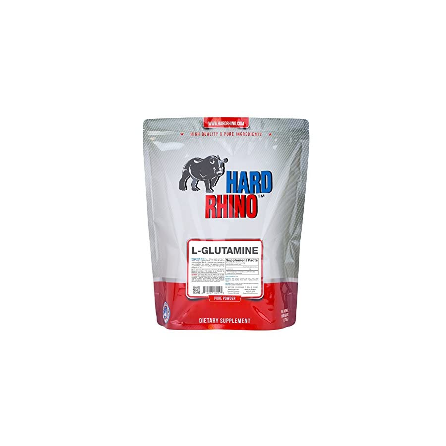 Hard Rhino L Glutamine Powder.