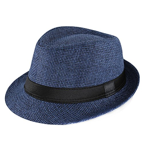 New Fashion Kids Sun Hat for Boys Summer Caps Casual Straw Caps Children Solid Colors Bonnet Girls Hats,OneSize,Blue from Puissant Sun-hats