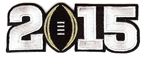 2015 College National Championship Bowl Game Jersey Patch Oregon Ducks vs. Ohio State Buckeyes (Black)