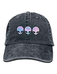 Psychedelic Three Holo Aliens Vintage Jeans Baseball Cap for Unisex