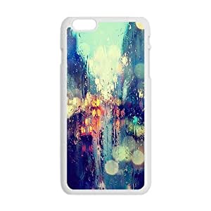 Abstract colorful Car glass lighting Phone Case for iPhone 6 Plus 5.5