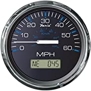 Faria 33726 Chesapeake GPS Speedometer - Black SS, 60 MPH
