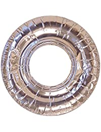 Win 100 Pc Aluminum Foil Round Stove Gas Burner Bib Liners Covers Disposable 7.5