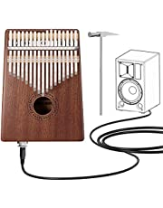 Anordsem Kalimba 17 Keys Finger Thumb Piano,Mbira,Solid Mahogany Body - with Calibrating Tune Hammer and Storage Bag (with Audio Hole)