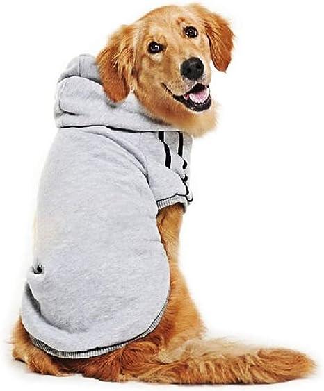 Se env/ía Desde Espa/ña Ducomi Adidog Disponibles de XS a 8XL L, Rojo Costuras Resistentes Sudadera con Capucha para Perros en Algod/ón Suave