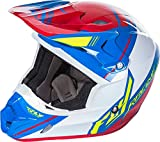 Fly Racing Unisex-Adult Full-Face-Helmet-Style Kinetic Pro Shortsy Replacement Helmet (Red/White/Blue, X-Large)