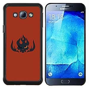Qstar Arte & diseño plástico duro Fundas Cover Cubre Hard Case Cover para Samsung Galaxy A8 A8000 (Flaming Skull)