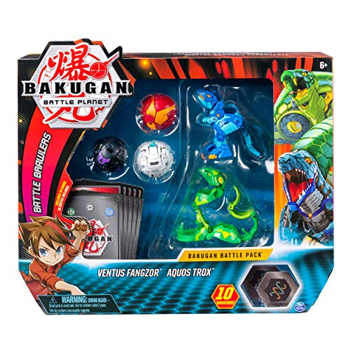 Bakugan, Battle Pack 5 Pack, Ventus Phaedrus & Pyrus Hydranoid, Collectible Cards & Transforming Creatures, for Ages 6 & Up