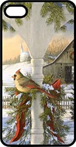 Female Cardinal In Winter Setting Black Plastic Case for Apple iPhone 4 or iPhone 4s by Maris's Diary