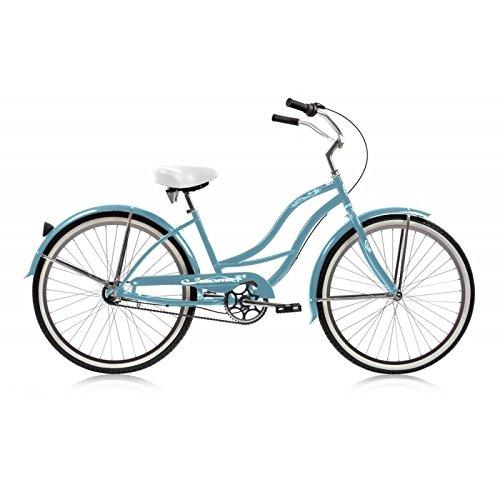 Micargi Tahiti NX3 Beach Cruiser Bike, Baby Blue, 26-Inch