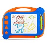 Kids Magna Doodle Board Toy - Erasable Magnetic Drawing Board Colorful Sketch Pad for Boy Girl Learning/Writing On the Go,Great Gift for 3 Year Old and Up (Stamps Not Included)