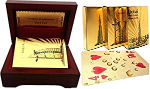 Grandey Poker Card Deck Silver Foil Poker Set Magic Card 24K Gold Plastic Foil Poker Durable Waterproof Cards Magic/24K Gold Foil Plated Playing Cards 100 Dollar Full Poker Deck Gift