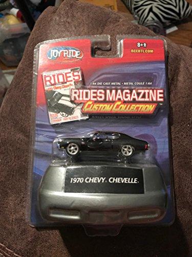 joyride rides magazine custom collection black 1970 chevy chevelle 1:64 die ()