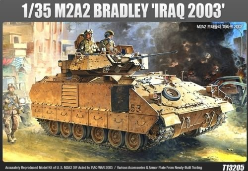 Academy 1/35 M2A2 Bradley Iraq 2003 Tank Plastic Model, used for sale  Delivered anywhere in USA