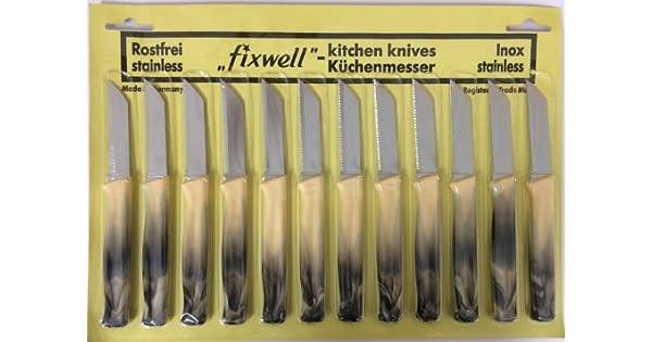 Amazon.com: fixwell Cuchillos 12pc, Deluxe marmoleado asas ...