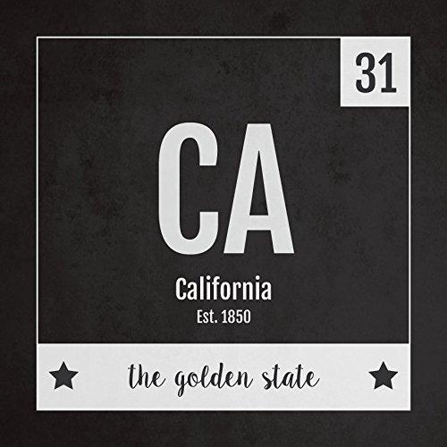 Amazon California Print Periodic Table California Home Wall