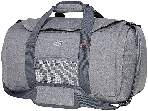 Sporttasche | 4F TPD002 | Reisetasche 25L | Riementasche für Fitness Gym Urlaub | Schultertasche mit Fächer
