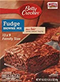 Betty Crocker Fudge Brownie Mix Family Size 18.3oz. (Pack of Two)