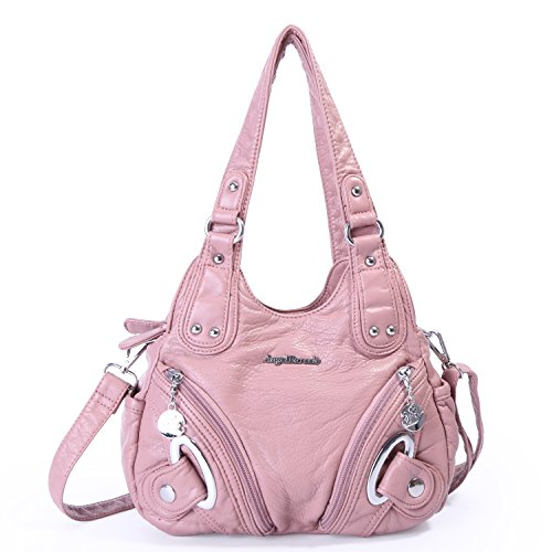 Angel Barcelo 3 layers Women s Washed PU Leather Shoulder Bags Crossbody  Bags Small Bags 8e037af1dea26