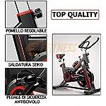 SPINBIKE-AERO-SPIN-6-Spinning-bike-con-volano-da-6-kg-Bicicletta-per-allenamento-a-casa-dimagrante-forza-resistenza-Cyclette-Spin-Bike