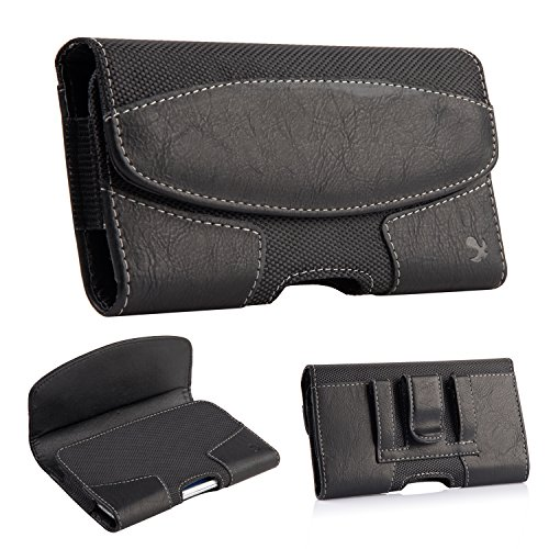 iNNEXT iPhone 8 Plus Belt Clip Case, Premium Horizontal Leather Case Pouch Holster with Magnetic Closure, Pouch Sleeve Carrying Case with Belt Clip Holster for iPhone 7 Plus/6S Plus 5.5 inch (Black) by iNNEXT (Image #7)