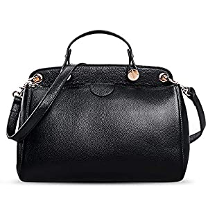 AB Earth Genuine Leather Designer Handbag for Women Doctor Style Top-handle Tote Cross Body Shoulder Bag, M803