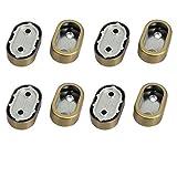 eDealMax armadio di metallo Abbigliamento Leva Staffa di supporto bronzo 8pcs tono per 32mmx16mm Tubo