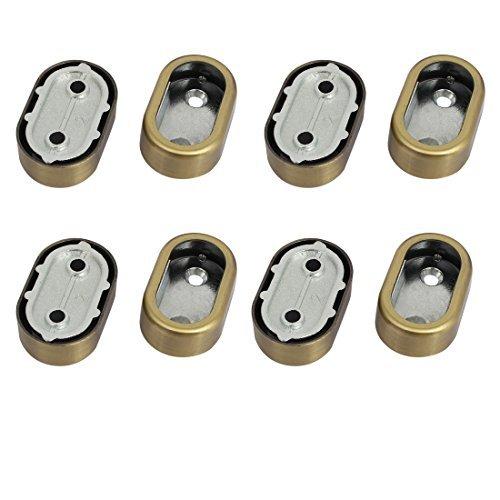 Armoire eDealMax vêtements en métal Levier Patte de support Bronze Tone 8pcs pour 32mmx16mm Tube by eDealMax