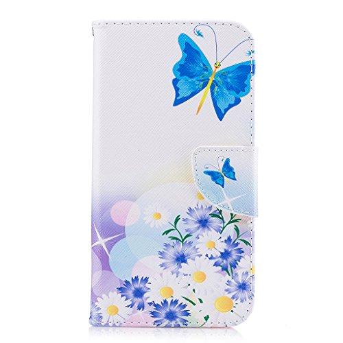 Trumpshop Smartphone Carcasa Funda Protección para Sony Xperia XZ + Kiss My Ass + PU Cuero Caja Protector Billetera con Cierre magnético Choque Absorción Hada de la Mariposa