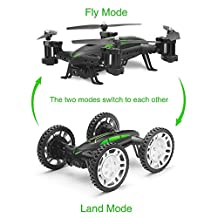 RC Quadcopter, UMsky 2 in 1 Multifunctional 2.4Ghz UAV Off Road Flying Car Remote Control Quadcopter RC Drone with WIFI Camera