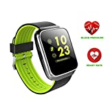 Bluetooth Smart Watch,Hangang Fitness Tracker Colorful Touch Screen Android Smartphone Smart Watch Waterproof for Android Phones and iOS, Activity Tracker Watch with Heart rate Monitor - Z40 - Green
