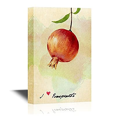 Grand Print, Professional Creation, Vintage Style Fruit Painting