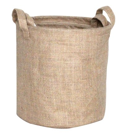 Premium Decor Fabric Foldable Canvas Laundry Basket Hamper Closet Storage Bin Bag Tote (FLB-086)