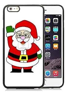 Diy Design iPhone 6 Plus Case,Santa Claus Black iPhone 6 Plus 5.5 TPU Case 24