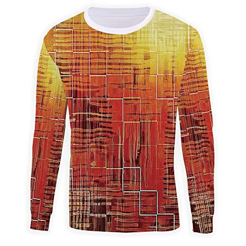 3D Print Burnt Orange Sweatshirt for Men