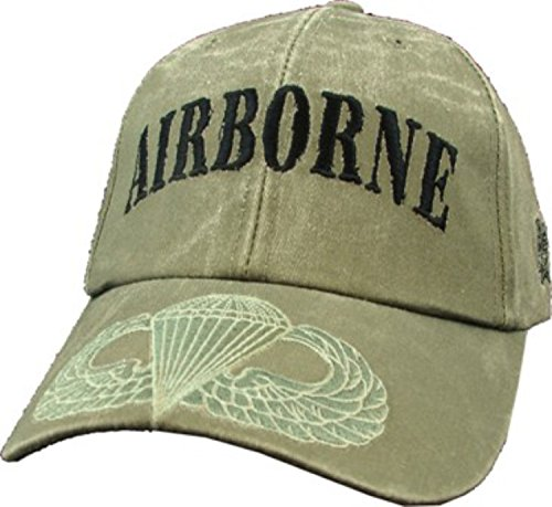 Jump Wings Hat (US Army OD Green Airborne Jump Wings Ball)