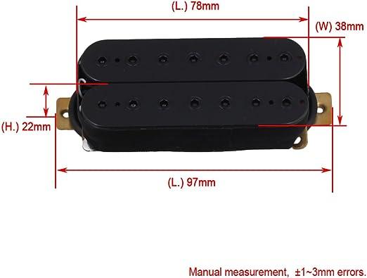 Yibuy Black HBBC Humbucker Bridge Neck Pickup for 7 String Electric Guitar Pack of 2