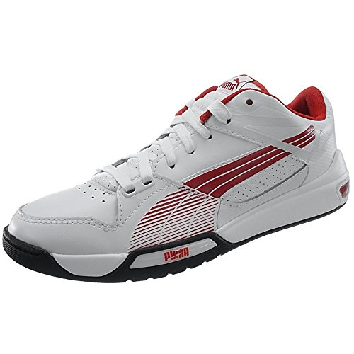 PUMA Hypermoto Low - 30413903 White-red 86AuxHp0