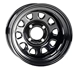 ITP Delta Steel Wheel - 12x7 - 4+3 Offset - 4/110 - Black , Bolt Pattern: 4/110, Rim Offset: 4+3, Wheel Rim Size: 12x7, Color: Black, Position: Front/Rear 1221753014