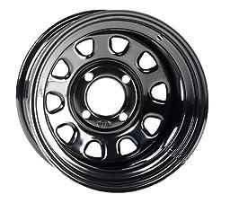 ITP Delta Steel Wheel - 12x7 - 5+2 Offset - 4/137 - Black, Wheel Rim Size: 12x7, Rim Offset: 5+2, Color: Black, Bolt Pattern: 4/137 1225573014