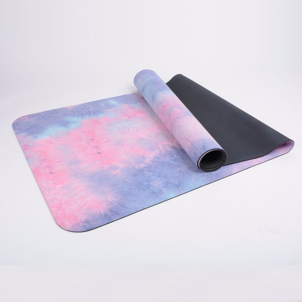 SJQKA-Anti Slip Lengthening, Soft Fitness Pad, Tasteless, Veteran Type Sports Suede Rubber Rubber Mat,Violet