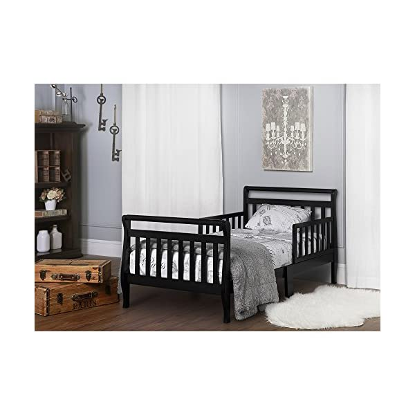 Dream On Me Classic Sleigh Toddler Bed - Black 2