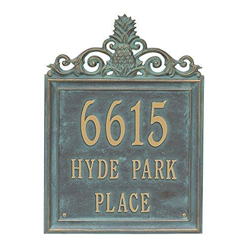 "Customized Lanai Pineapple 3 Lines Standard Wall Address Plaque 15""H (Wall Standard Plaque Address)"