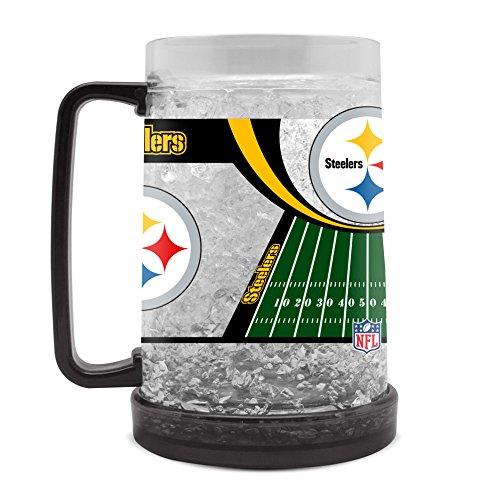(NFL Pittsburgh Steelers 16oz Crystal Freezer Mug)