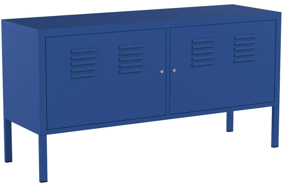 Ikea Blue Cabinet Tv Stand Multi-use Lockable